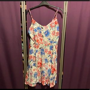 Gap fit and flare dress with floral print